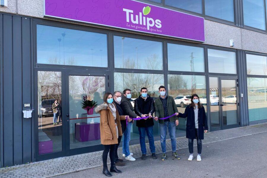 """Inaugurazione del terzo """"dark store"""" di prossimità della spesa online di Tulips"""