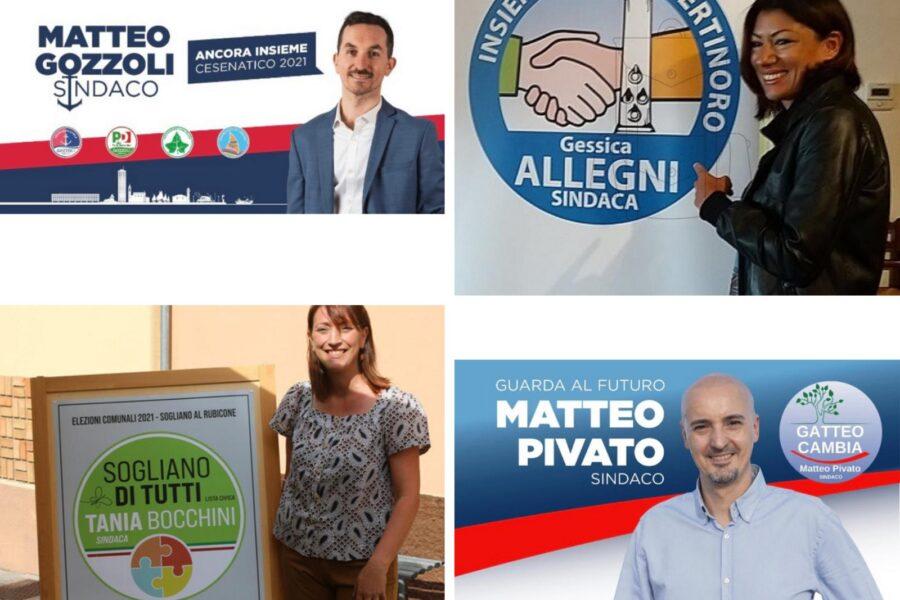Campagna elettorale 2021. Si vota a Bertinoro, Cesenatico, Gatteo e Sogliano al Rubicone